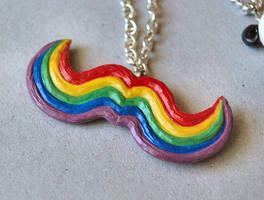 Rainbow Mustache by Madizzo