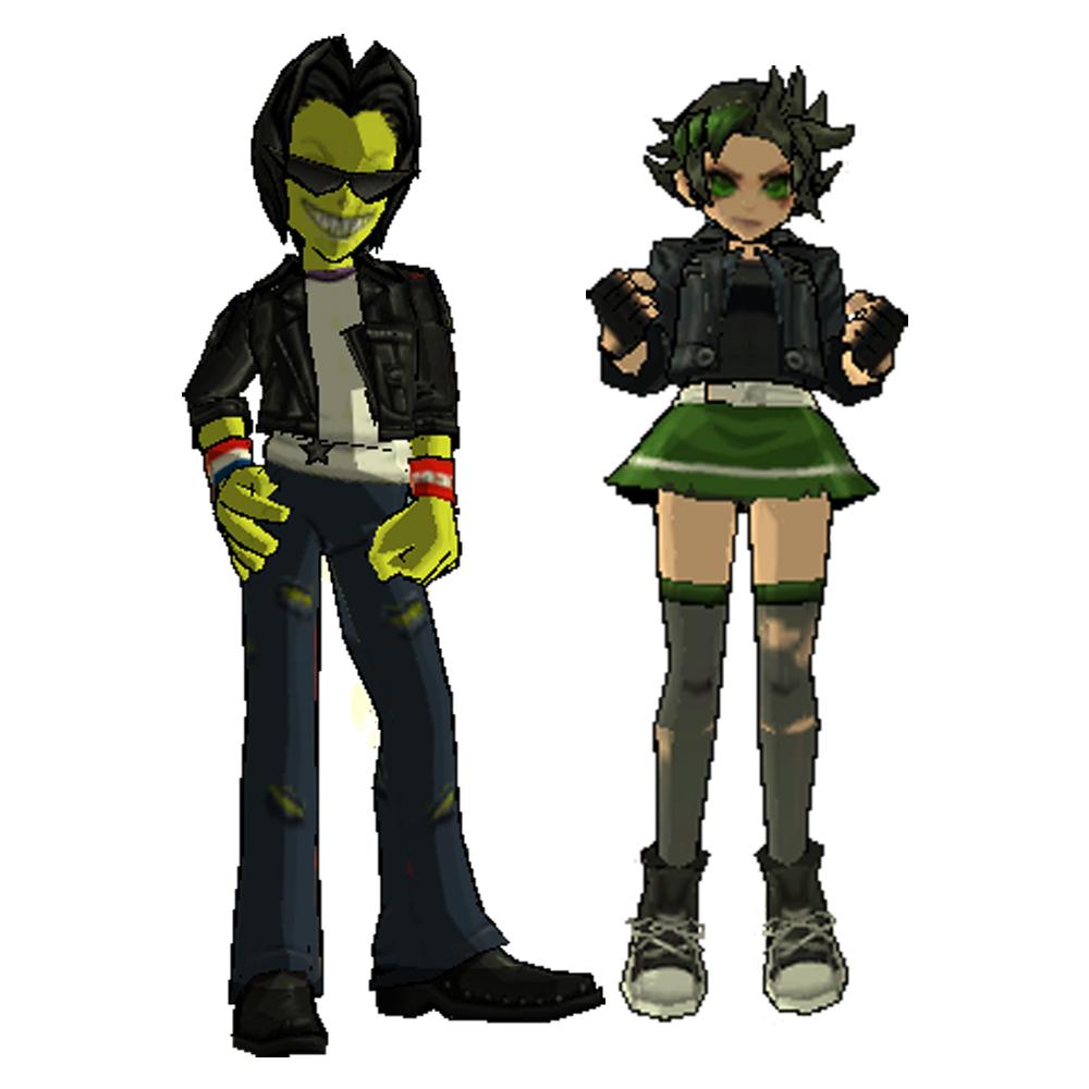 Ace X Buttercup... Green Cartoon Characters
