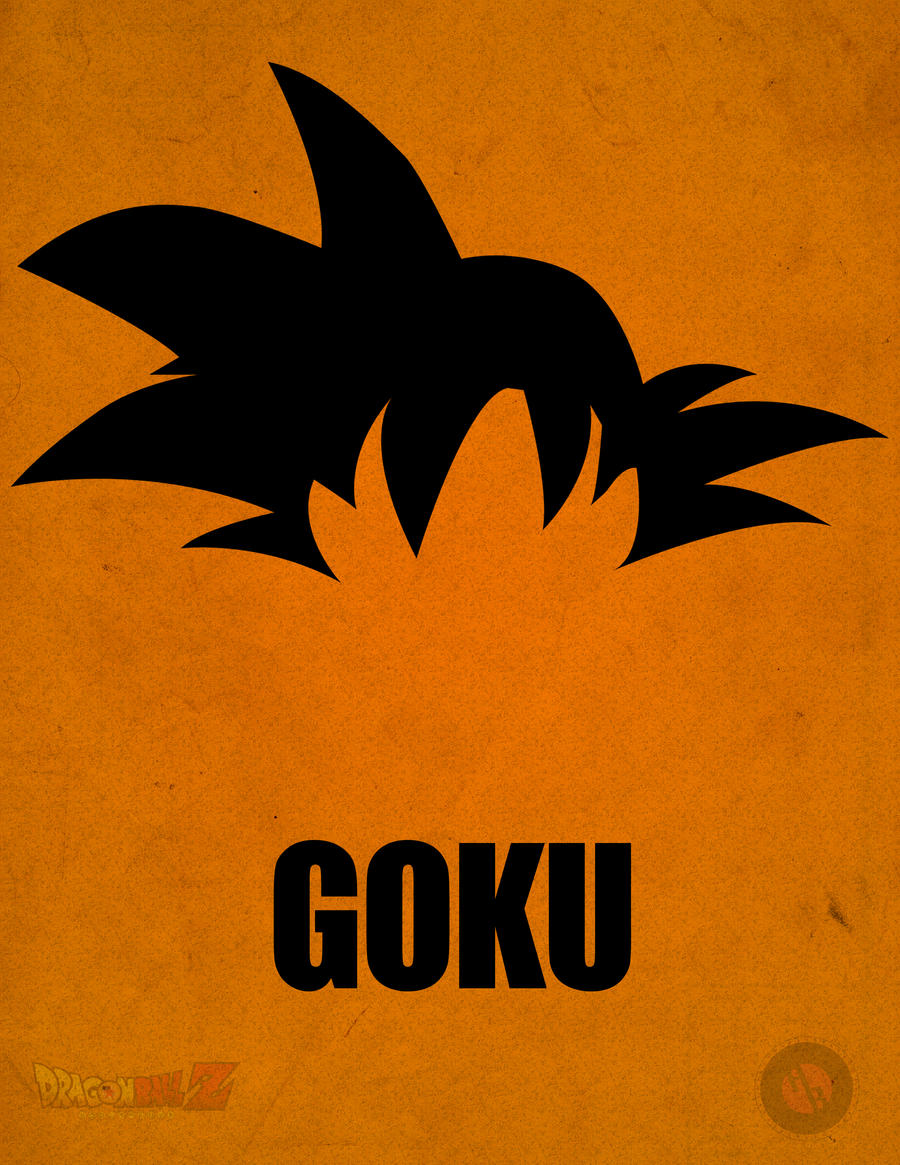 Goku minimalist poster by a b original on deviantart for Minimalist house logo
