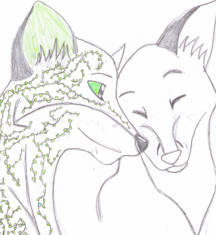 The tale of the two wolves by Ronkeyroo on DeviantArt  Two Wolves In Love Anime