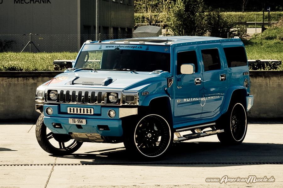 Light Blue Hummer H2 by AmericanMuscle on DeviantArt
