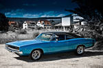 blue 68 charger IV
