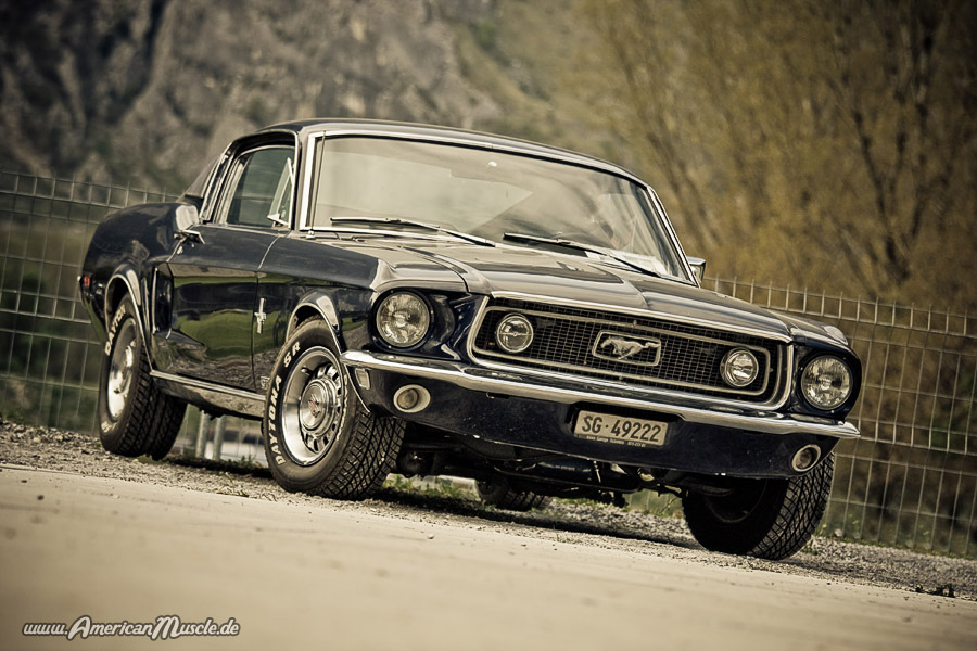 Blue Ford Mustang Fastback by AmericanMuscle on DeviantArt