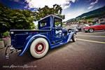 blue hot rod truck