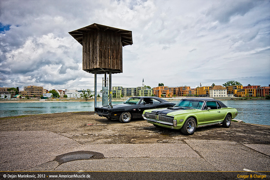 Mercury Cougar + Dodge Charger III by AmericanMuscle