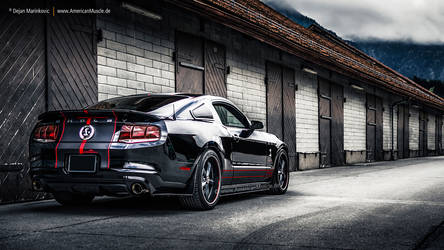Black Shelby GT500 by AmericanMuscle