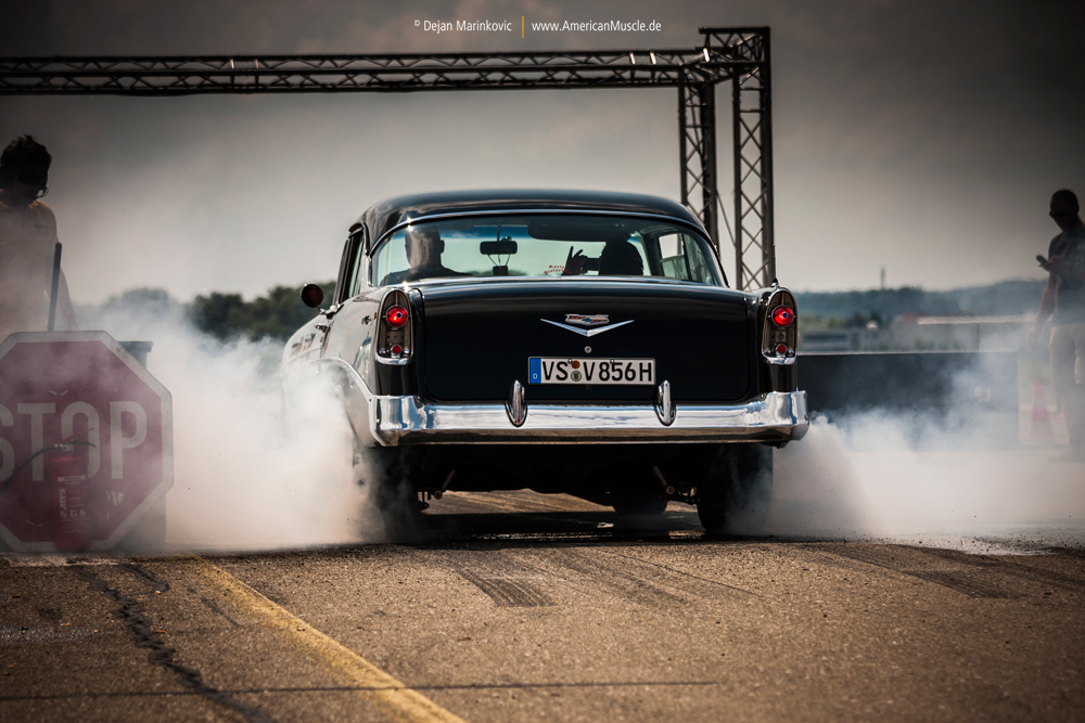 56 Bel Air Burnout by AmericanMuscle