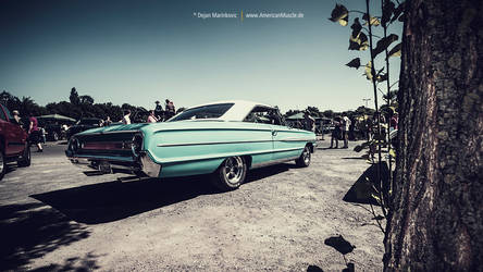 turquoise Ford Galaxie