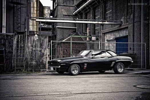 Black 1969 Camaro SS