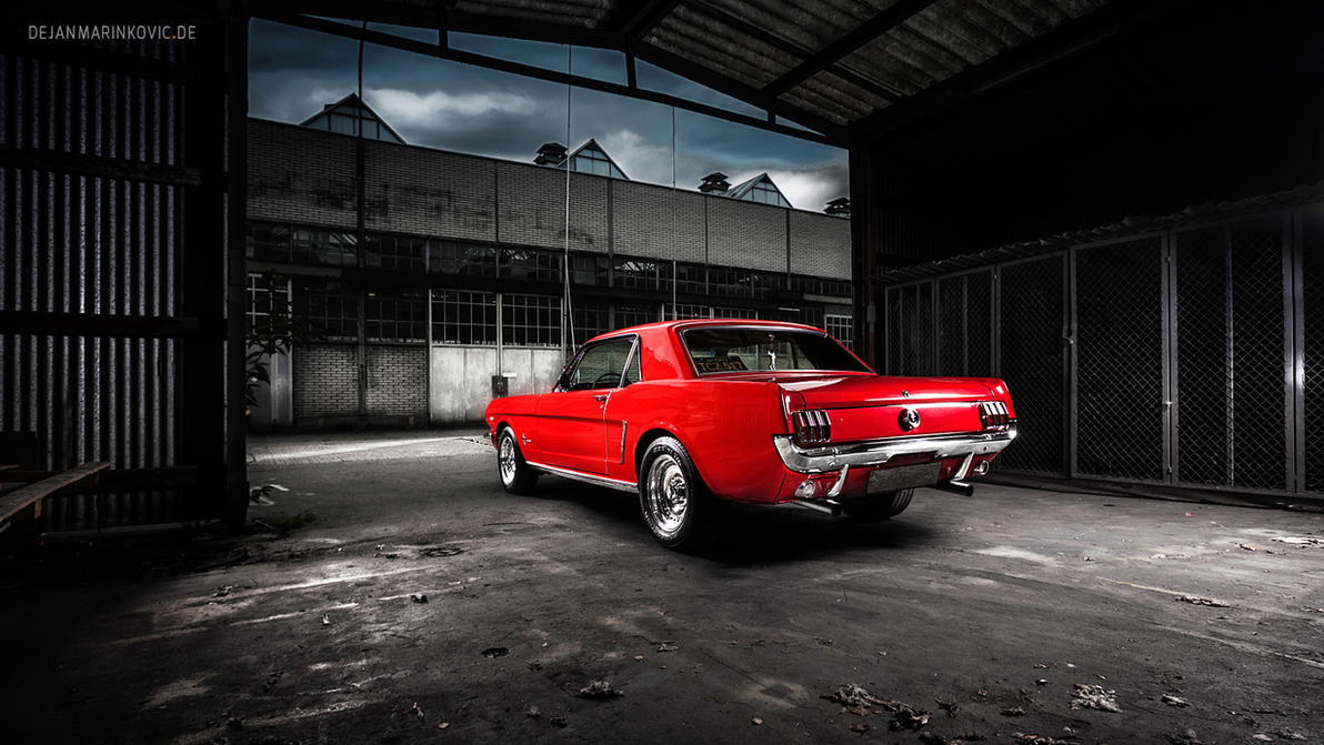 Red Mustang Coupe by AmericanMuscle
