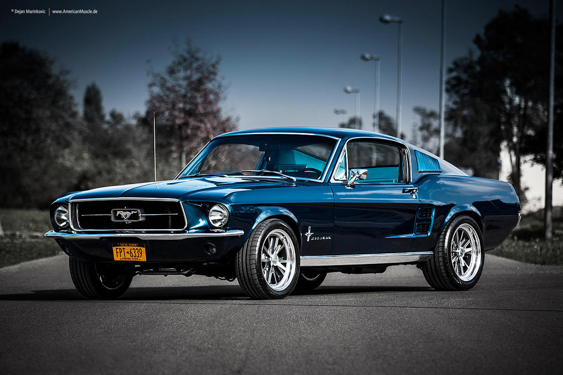 Blue 1967 Fastback by AmericanMuscle