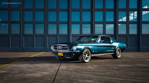 Blue 1967 Ford Mustang Fastback