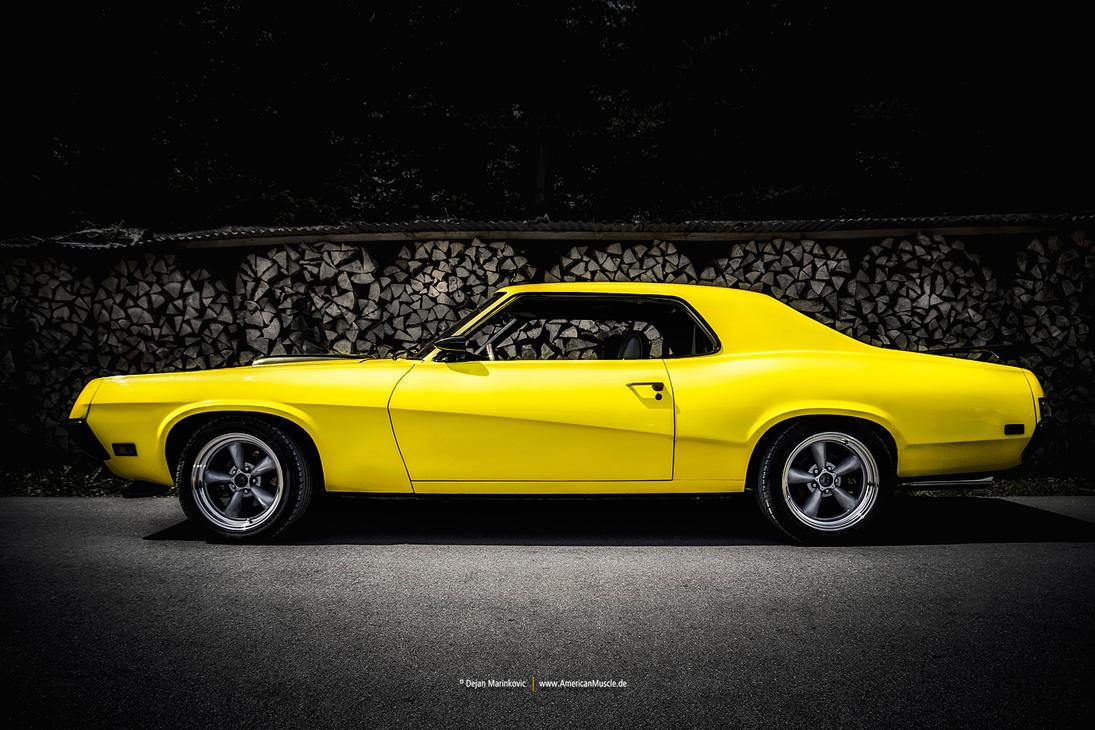 Yellow 1969 Mercury Cougar By Americanmuscle On Deviantart