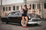Kustom Car + Girl
