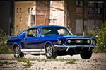 Blue Fastback