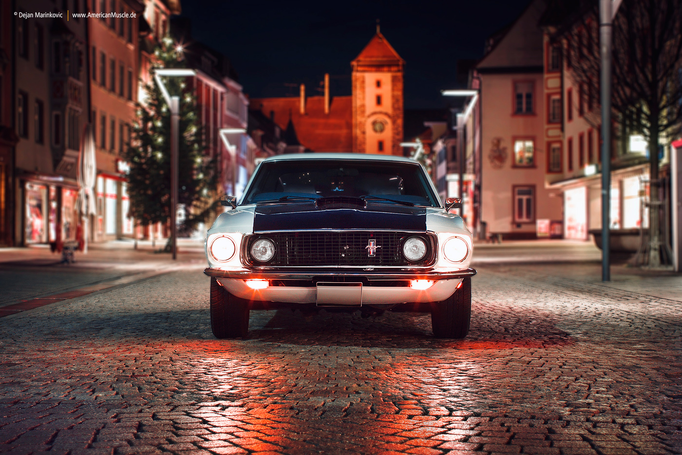 69 Mustang in old town