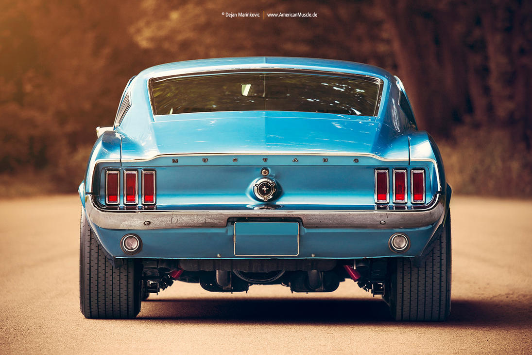 Personnes notables 1967 Ford Mustang Fastback Rear by AmericanMuscle on DeviantArt QQ31