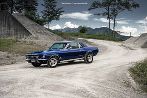 blue 67 Mustang by AmericanMuscle