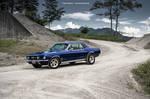 blue 67 Mustang