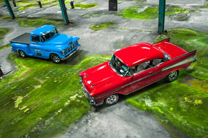 57 Bel Air + 55 Chevy 3100 - Shot 6 by AmericanMuscle