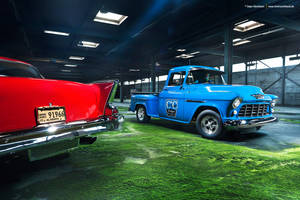 57 Bel Air + 55 Chevy 3100 - Shot 7 by AmericanMuscle