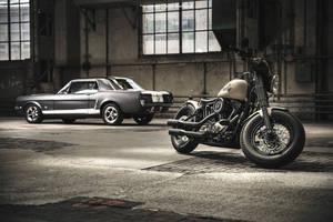2012 Harley-Davidson and 1965 Mustang