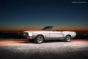 white 1967 Ford Mustang Convertible by AmericanMuscle