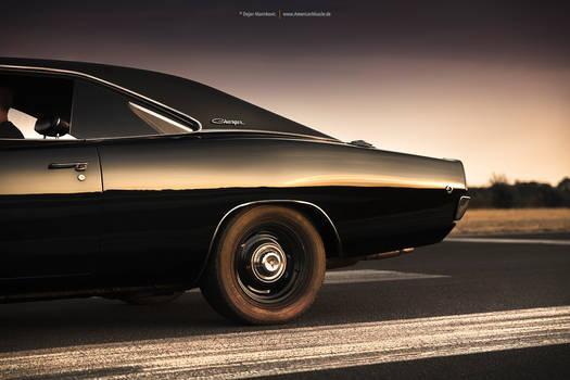black 1968 Dodge Charger