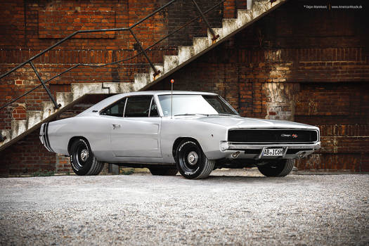 silver 1968 Dodge Charger R/T - Shot 5