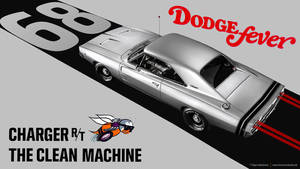 silver 1968 Dodge Charger R/T - Artwork