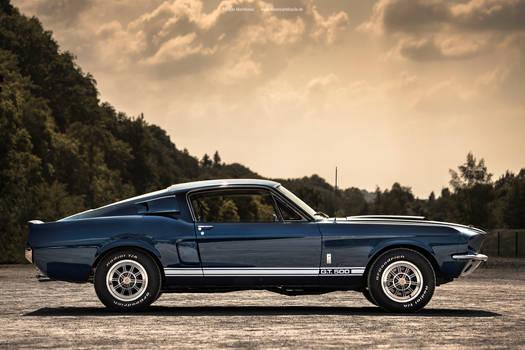 blue 1967 Shelby GT500