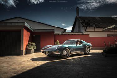 Blue C3 Corvette