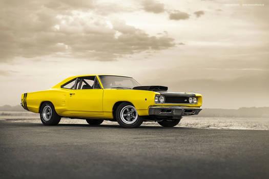 Yellow 1968 Dodge Super Bee