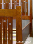 Mackintosh cutout king bed by DryadStudios