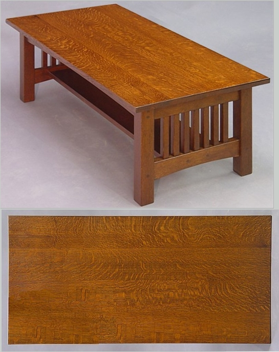 Small Spindle Oak Coffee Table By Dryadstudios On Deviantart