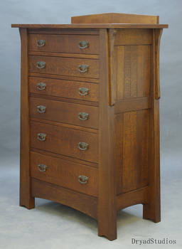 6 drawer Arts and Crafts Dresser