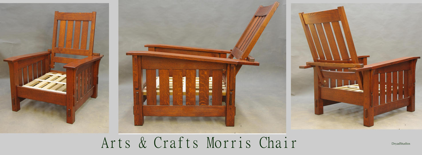 Morris chair cushions - Arts And Crafts Morris Chair By Dryadstudios