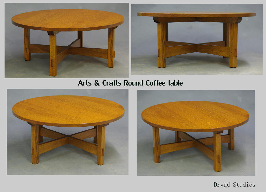 Arts And Crafts Round Coffee Table By DryadStudios ...