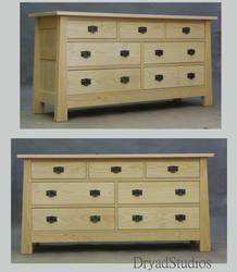 Unstained Ash Mack Dresser