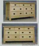 Unstained Ash Mack Dresser by DryadStudios