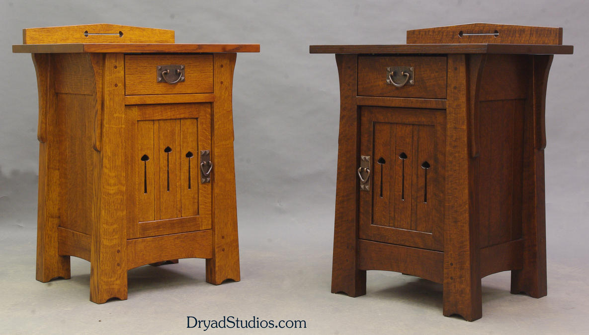 Examples of Mackintosh keyhole nightstands by DryadStudios