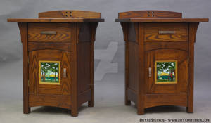 Porteous Tile - Green Forest Nightstands