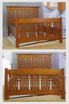 Mackintosh Queen Bed in Amber by DryadStudios