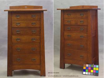 Arts and Crafts Mackintosh dresser bureau by DryadStudios