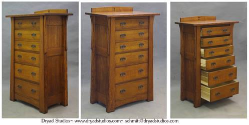 Mackintosh-Arts and Crafts linen/child's dresser by DryadStudios