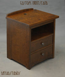 Custom nightstand with electronics portal by DryadStudios