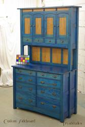 Custom Sideboard in blue by DryadStudios