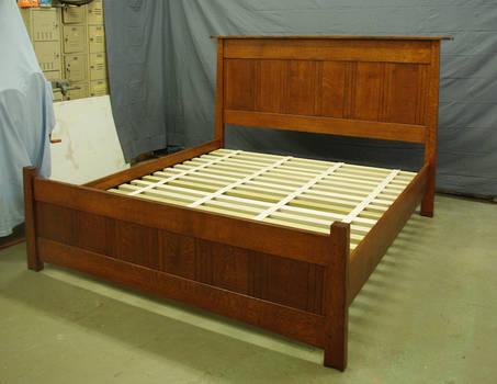 Amber Mackinstosh panel Oak Bed