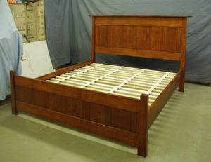 Amber Mackinstosh panel Oak Bed