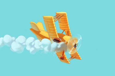 Biplane by bloochikin
